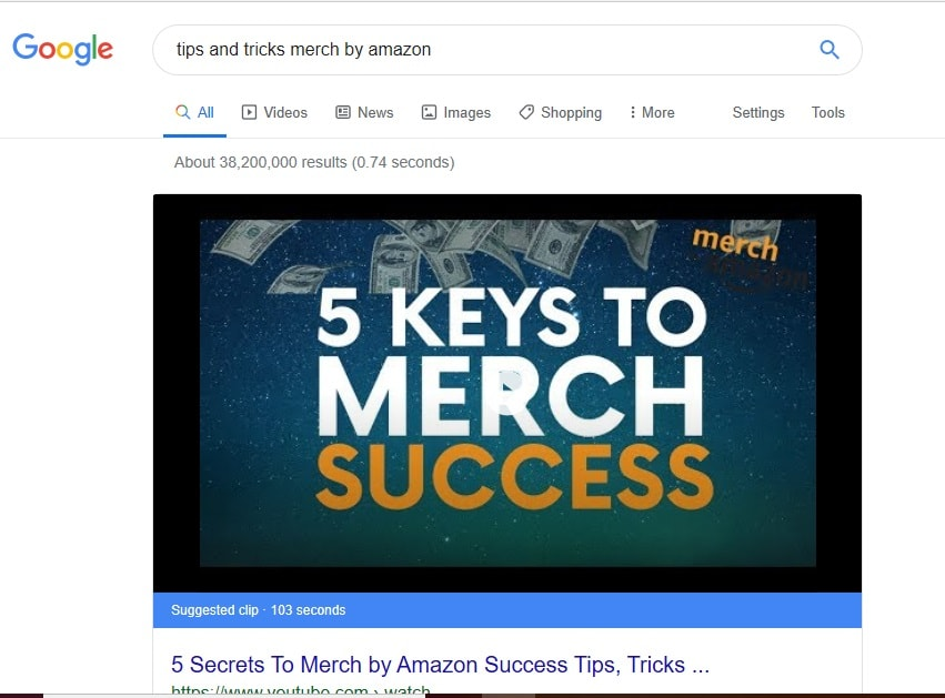 Tips for Using Merch Search Tips
