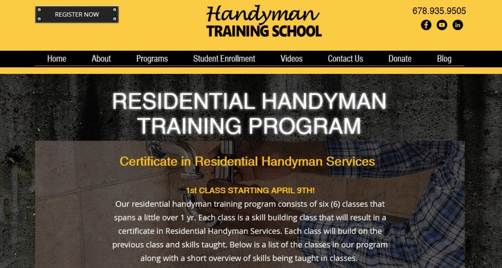 handyman training for single moms