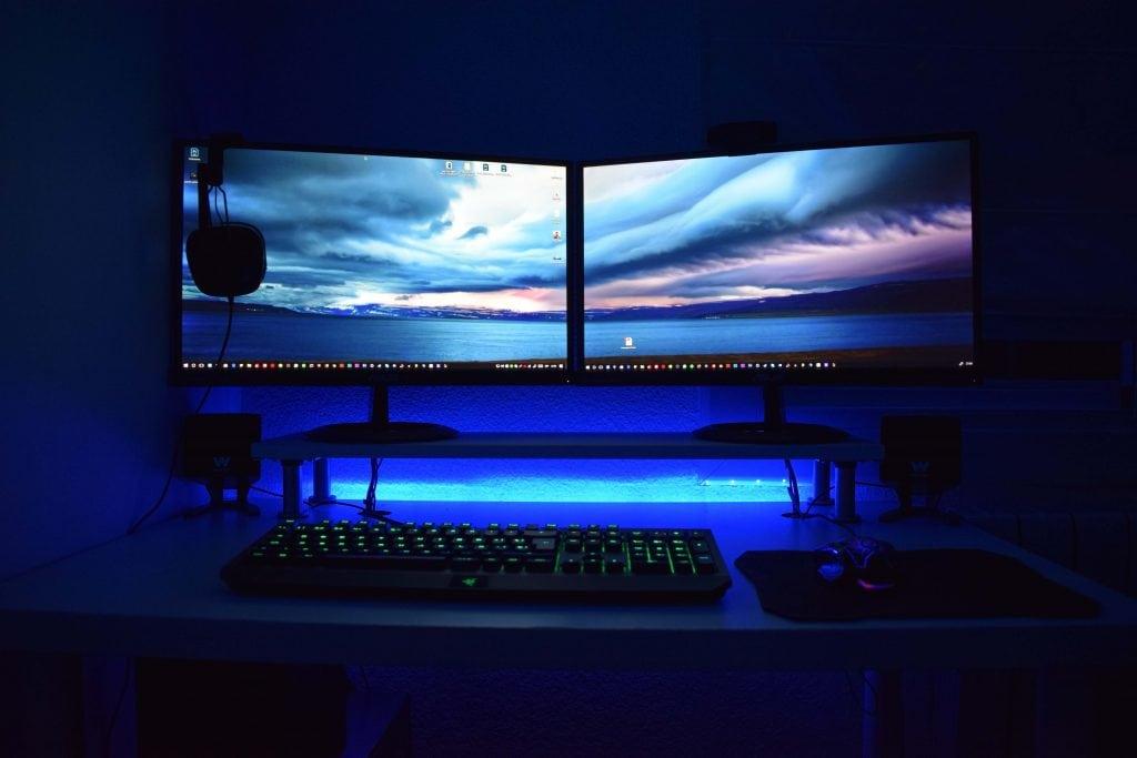 Monitors and Keyboard