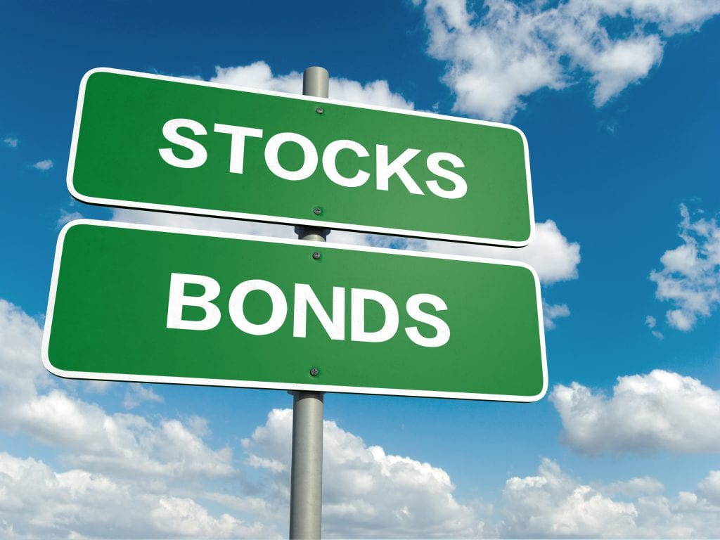 Stocks and bonds sign