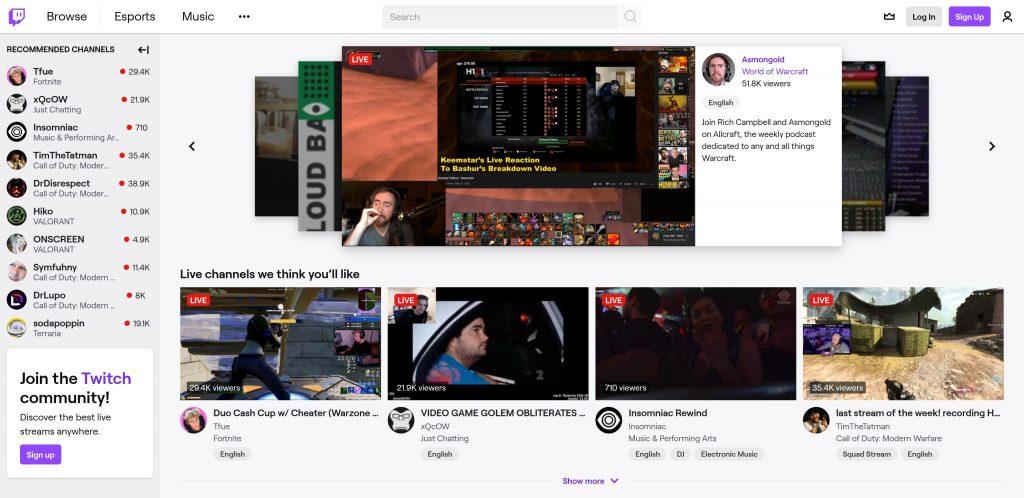 Twitch Website