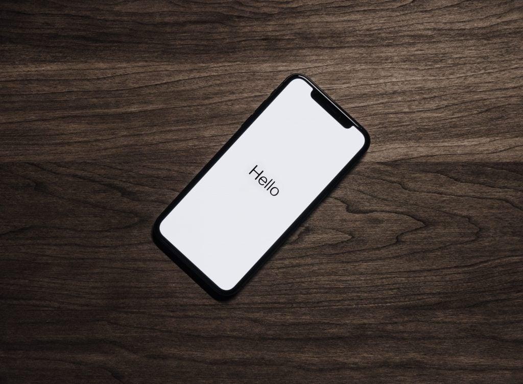 iPhone Hello