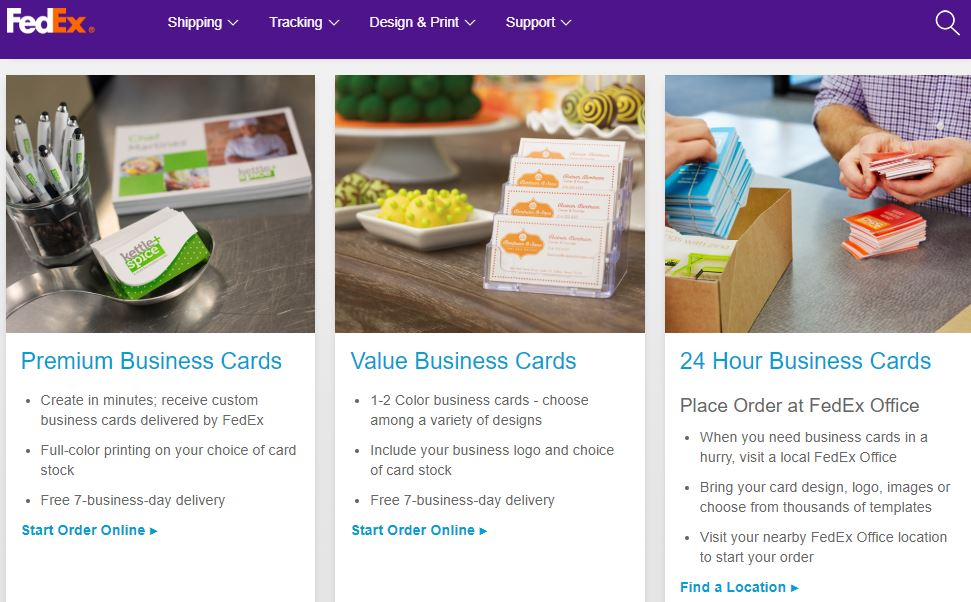 FedEx Business Cards