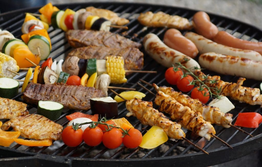 Mixed Meats on the Grill