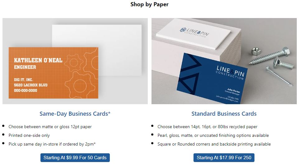 Office Depot Business Cards