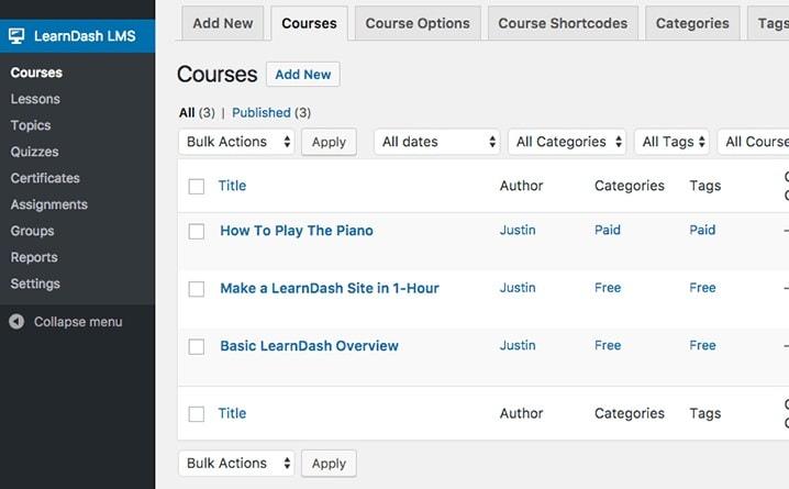 online course learndash course