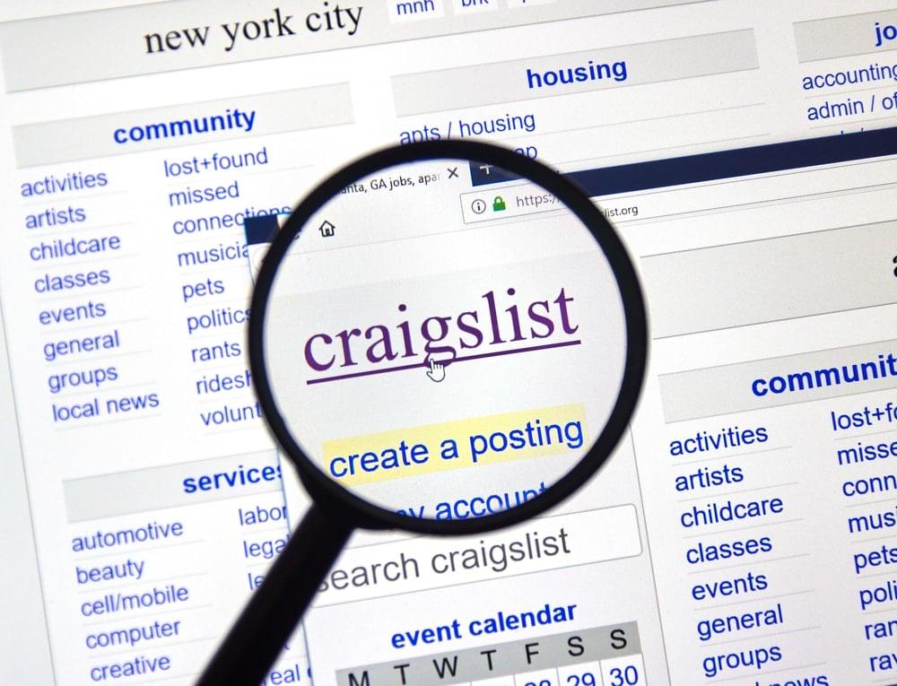 Craigslist home page