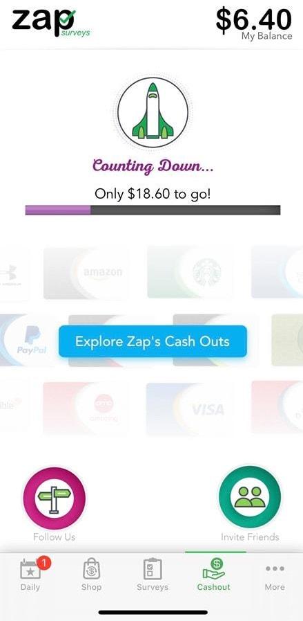 Zap Surveys Minimum Payment