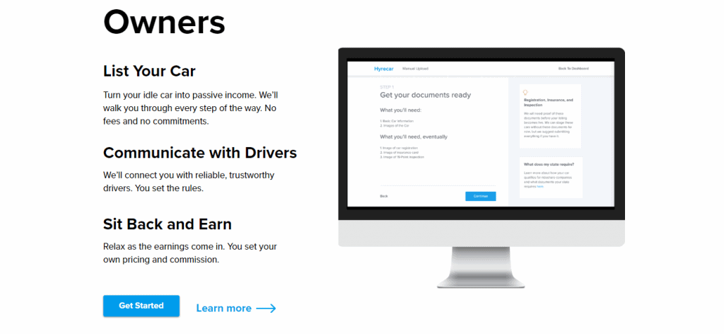 HyreCar Sign Up