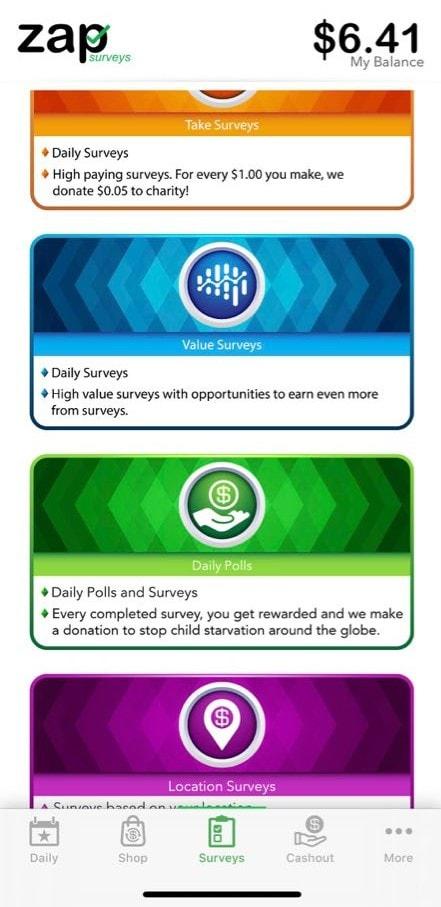 Zap Surveys App