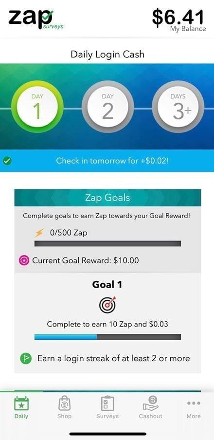 Zap Surveys Zap Goals