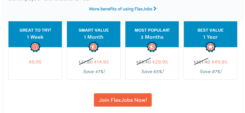 FlexJobs Pricing