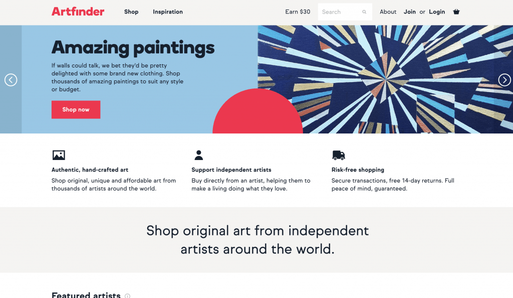 Artfinder Website