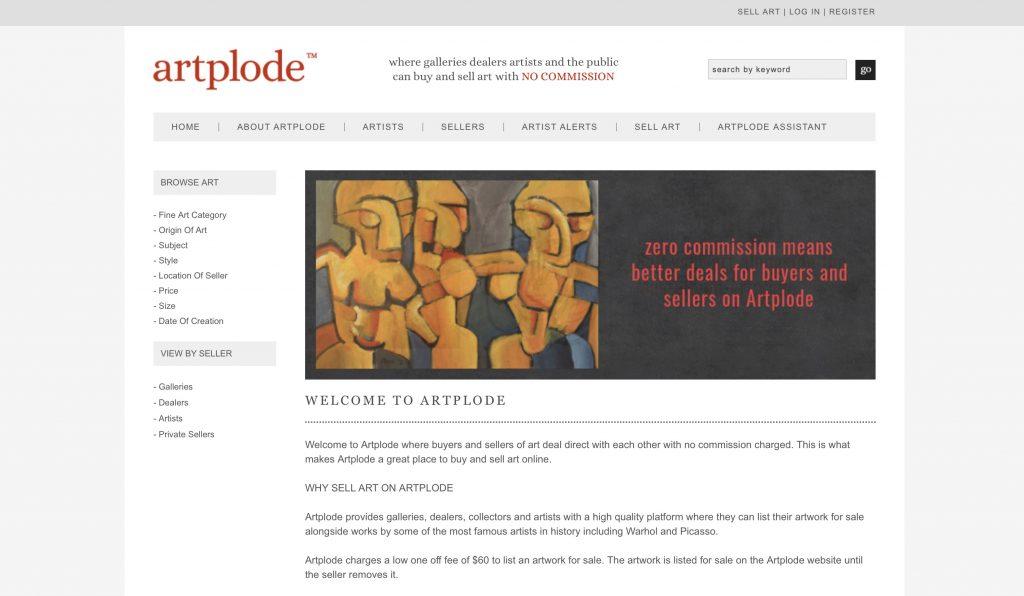Artplode website