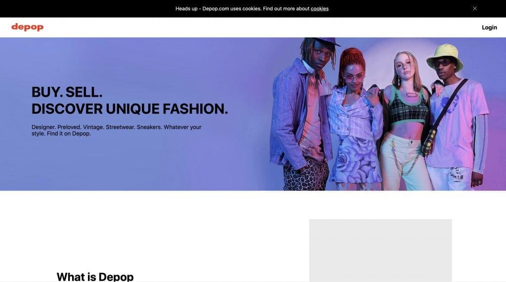 Depop website