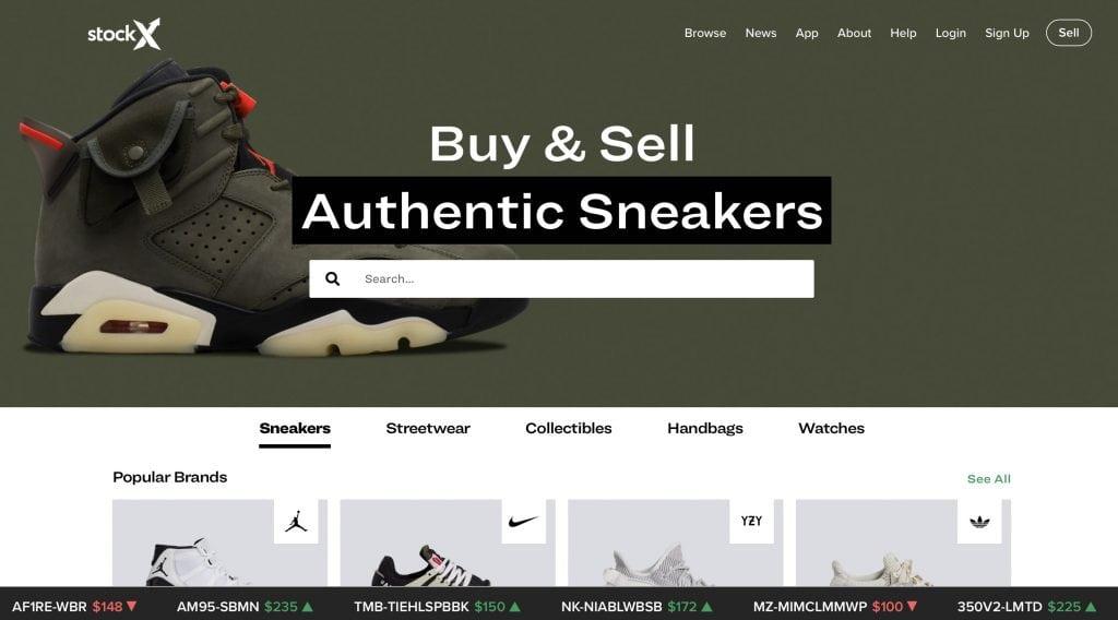StockX website