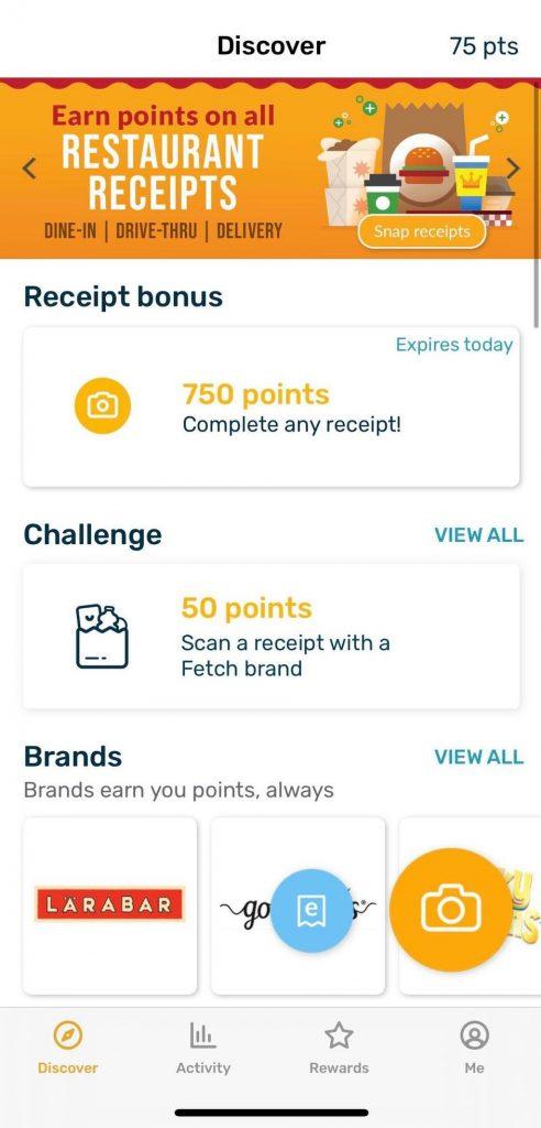 Fetch Rewards Discover