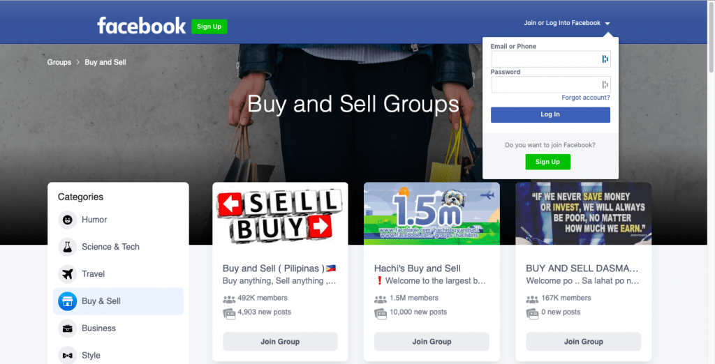 Facebook Buy & Sell Groups