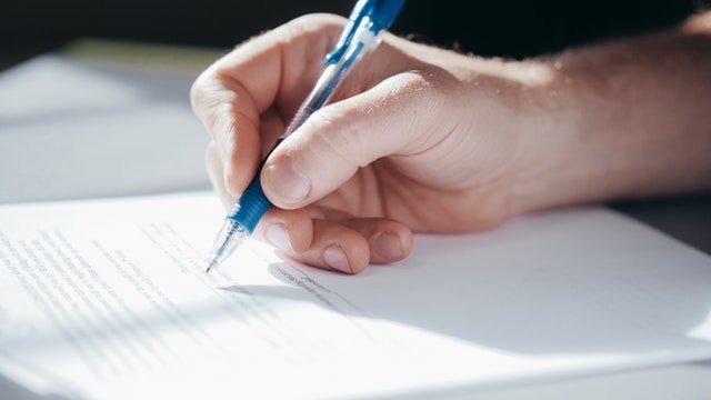 Signing business insurance
